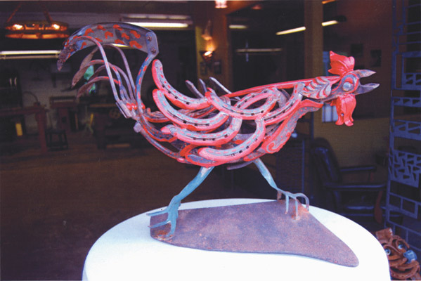 Rooster On Plow Part